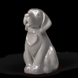 Hund Sitzend – Grau Glasiert 0,9 l
