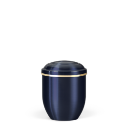 Kobalt-Blau mit Goldbandverzierung 0,3 l