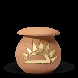 Terracotta, Goldverzierung 0,5 l