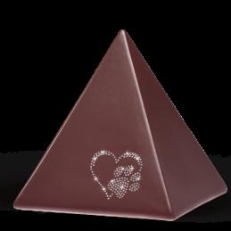 Bordeaux, Herz m. Pfote – Swarovski-Steine 2,5 l